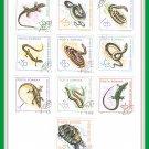 Posta Romana Reptile Stamps Romania 1964-1965