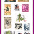 United States Postage Stamps Vintage U.S.A. Cancelled