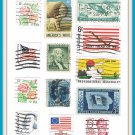United States Postage Stamps Vintage U.S.A. Cancelled 13