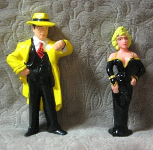 Disney Dick Tracy &amp; Breathless Mahoney Figures Applause 1990