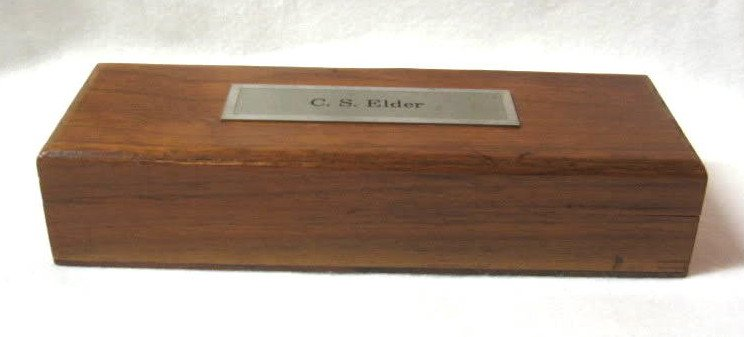 Vintage 1964 Wooden Hinged Box Hoover Red Letter Month Collectible