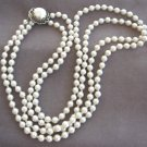 Vintage Pearl Necklace Double Strand 1950's Retro Japan