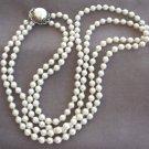 Vintage Pearl Necklace Double Strand 1950's Retro Japan