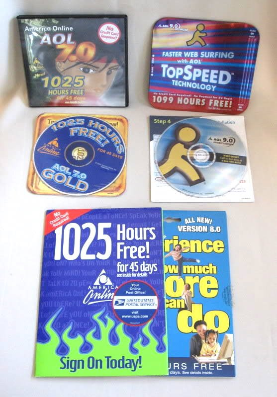 6  AOL CD Disks Disc 7.0 & Up Great For The Collector