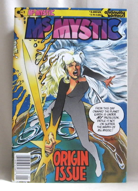 Comic Book 1987 Ms. Mystic No. 1 October Continuity Publishing Origin Issue