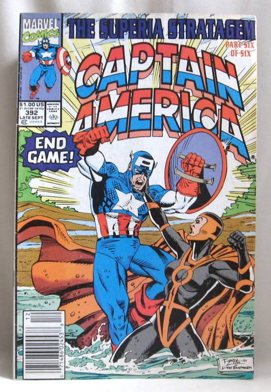 Captain America Comic Book 1991 Vol. 1 #392 Marvel
