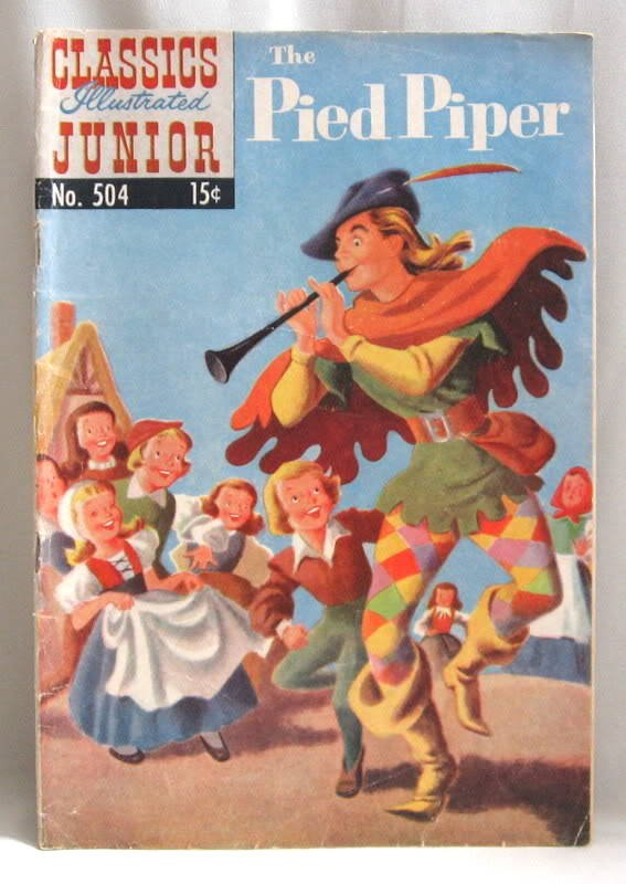 The Pied Piper Comic Book 1954 No. 504 Classics Illustrated Junior