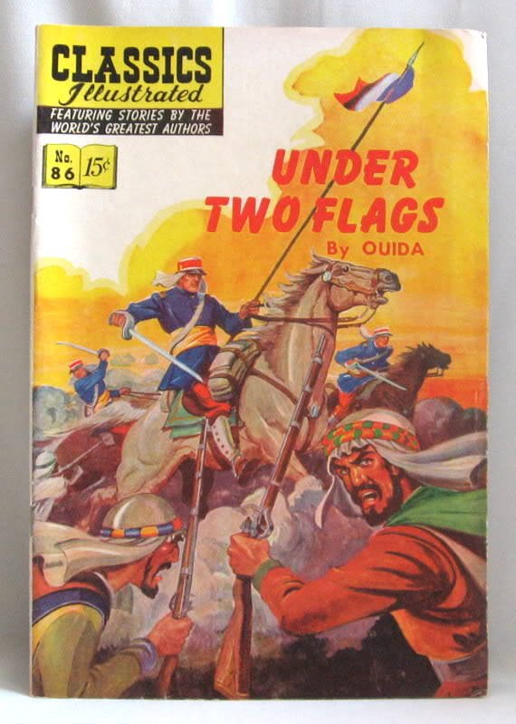 Under Two Flags No. 86 Comic Book Classics Illustrated 1951 Vintage
