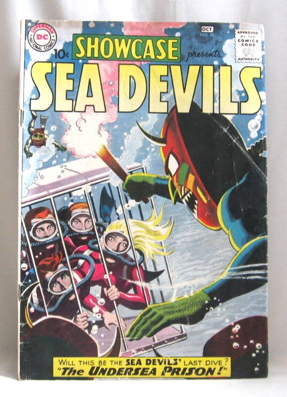 Sea Devils #28 Comic Book 1960 Showcase Presents Rare Vintage
