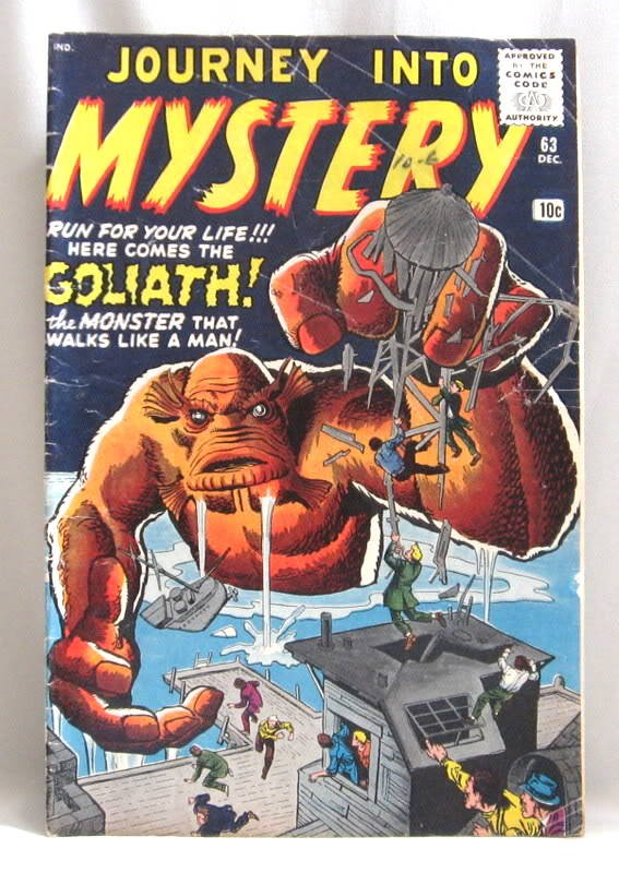 Journey Into Mystery Dec #63 Comic Book Rare Vintage 1960