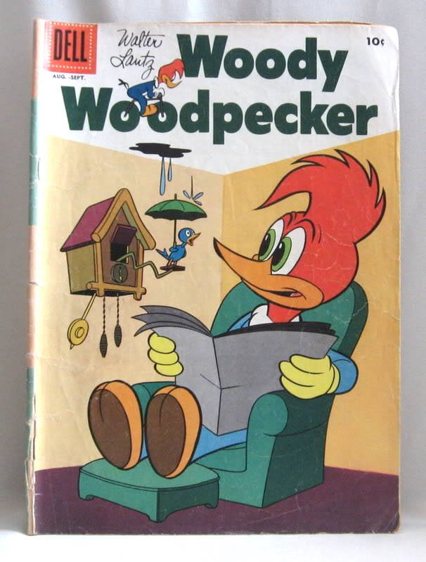 Woody Woodpecker No. 38 Aug-Sept Comic Book Vintage 1956