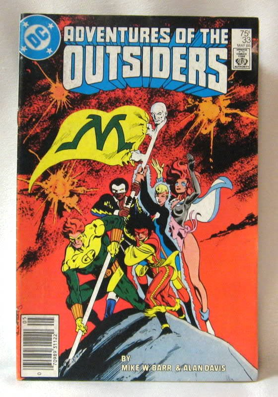 Adventures Of The Outsiders #33 May Comic Book 1986
