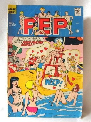 Archie Series Pep No. 257 Comic Book 1971 Vintage