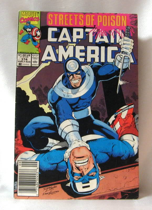 Comic Book Aug. 1990 Captain America Streets of Poison Vol. 1 #374