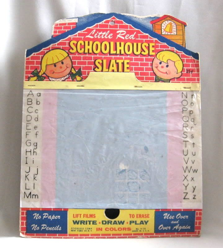 Little Red Schoolhouse Magic Slate Vintage Retro 50's Toy
