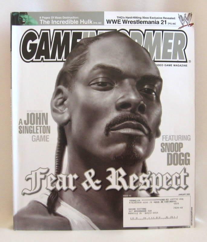Game Informer Computer & Video Game Magazine Snoop Dogg 2005