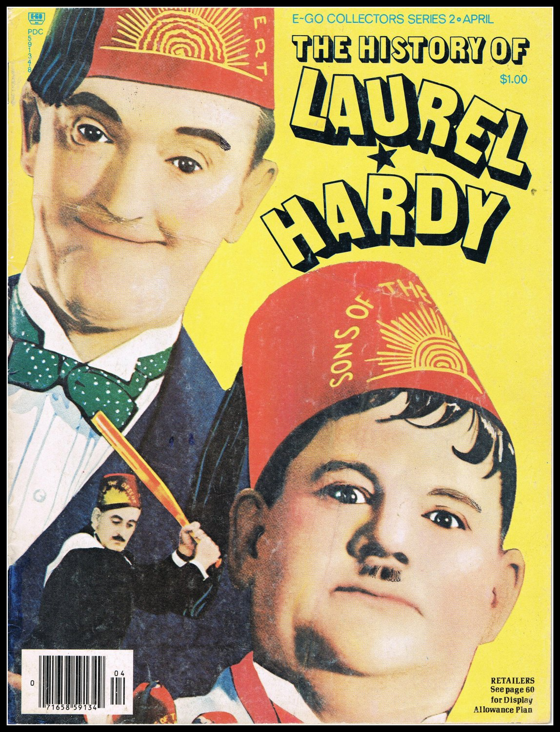 The History Of Laurel & Hardy Magazine Book Vintage 1976 Rare