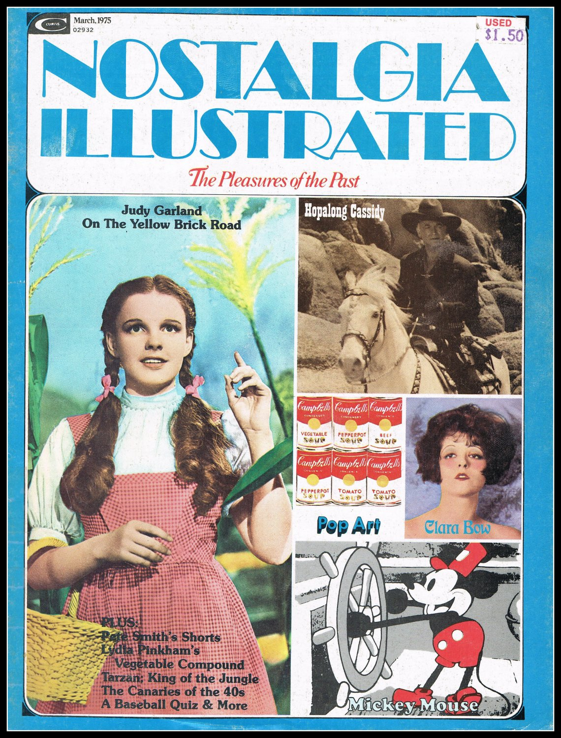 Nostalgia Illustrated Magazine Judy Garland Cover 1975 Vintage