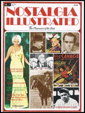 Nostalgia Illustrated Magazine The Pleasures Of The Past James Dean Jean Harlow Rock Hudson 1974