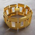 Large Chunky Style Textured Gold Bracelet Retro Vintage