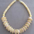 Large Genuine Coco Beaded Necklace Vintage Chunky Style