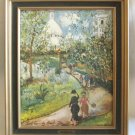 Artist Maurice Utrillo Vintage Framed Art Print Wall Decor Made In France Retro 1970