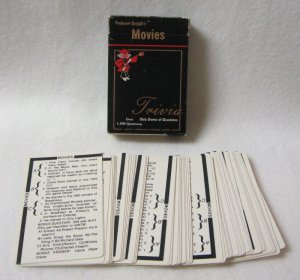 Movie Trivia Card Game Professor Quizzles Quiz Wizard 1984 Vintage