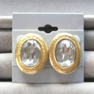 Vintage Large Rhinestone Earrings By Designer Tat