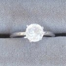 The Vanderbilt Jewel Solitaire Ring Silver Size 7 Vintage