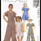 McCall's Sewing Pattern #7090 Childrens & Girls Jumpsuit Romper Sizes 7 8 10