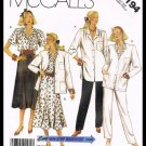 McCall's Pattern Non Stop Wardrobe Cardigan Blouse Skirt & Pants Plus Size 20 1/2