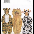 Butterick Sewing Pattern No. 4115 Childrens Costumes Cow Lion Tiger Sizes Toddler 1 to 4