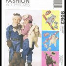 Childrens Boys Girls Fashion Accessories McCall's Sewing Pattern #9062 Backpack Mittens Scarf Hat