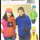 Childrens Boys Girls Jacket Vest Hat Scarf Mittens Butterick Sewing Pattern #B4595 Size 12-16
