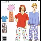 Simplicity Sewing Pattern No. 4336 Children Boys & Girls Pants Tops Sizes 3 to 8