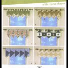 Sewing Pattern Simplicity Home Decorating Easy Window Toppers Valances No. 4973