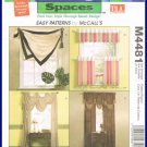 Easy Sewing Patterns By McCalls No. M4481 TLC Trading Spaces Window Essentials Treatments Valances