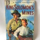King Solomon&#39;s Mines By H. Rider Haggard Vintage 1950 Book Deborah Kerr Cover