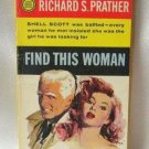 Find This Woman Shell Scott By Richard S. Prather Vintage Softcover Book 1958