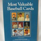 Most Valuable Baseball Cards Christopher Benjamin Softcover Book 1990