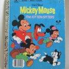Mickey Mouse The Kitten Sitters A Little Golden Hardcover Book Walt Disney 1976