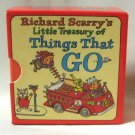 Richard Scarry&#39;s Little Treasury Of Things That Go Boxed Set Hardcover Books 1990 Derrydale