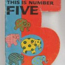 This Is Number Five A Happiness Number Book Vintage 1967 Softcover Ottenheimer