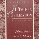 Heritage Of Western Civilization By John L. Beatty & Oliver A. Johnson Softcover Book