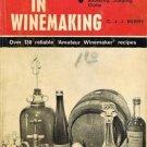 First Steps in Winemaking By CJJ Berry Britain Softcover Book Vintage