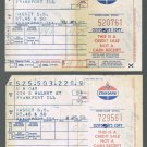 Vintage Receipts Old 1959 Standard Gasoline 33 Cents Per Gallon Chicago Midway Airport