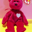 Valentina The Love Bear Ty Beanie Baby Retired 1999