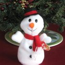 Snowball The Snowman Ty Beanie Baby 4th Generation Hang Tag Retired 1997