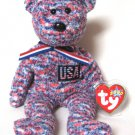 USA The American Teddy Bear Ty Beanie Baby Retired 2001