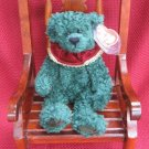 Laurel The Green Holiday Bear Ty Attic Treasure Retired 1998